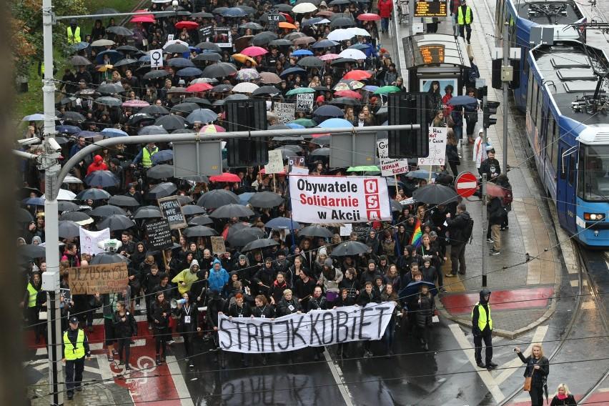 Czarny protest - Wrocław, 3 października 2016