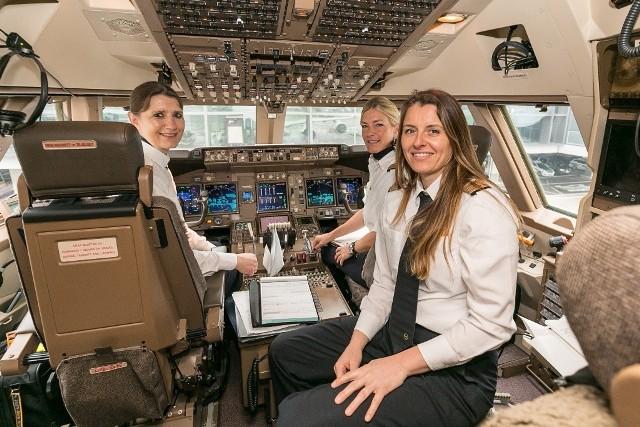 Kobiety w kokpicie nie należą już do rzadkości. Około 6 procent pilotów w Lufthansa Group stanowią panie.