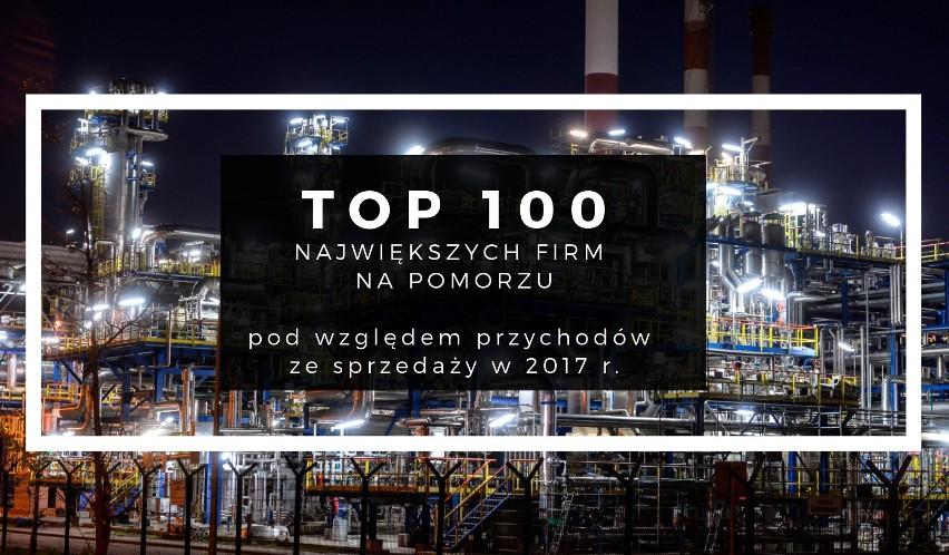 TOP 100 największych firm na Pomorzu. Ranking firm pod...