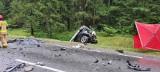 Tatarowce. Tragiczny wypadek na DK 65. Cztery osoby, w tym dzieci zginęły w zderzeniu samochodu osobowego z tirem [ZDJĘCIA]