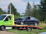 Sobolewo. Zderzenie trzech aut na Szosie Baranowickiej. Utrudnienia w ruchu [ZDJĘCIA]