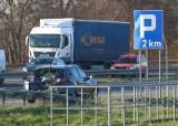 Zablokowana autostrada A4 po wypadku pod Wrocławiem