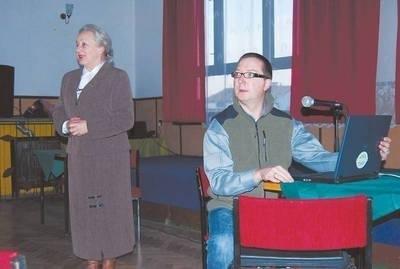 Mariusz Kuś i Anna Wojtowicz, przewodnicząca SRWT Fot. Archiwum
