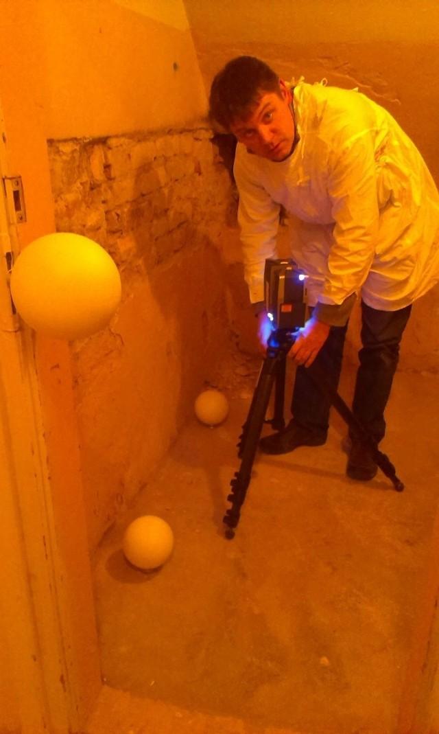 Pomieszczenia z XVII i XVIII wieku odkryto w 2011 roku podczas badań architekoniczno-archeologicznych w pałacowych podziemiach. Skanował je bezpłatnie Dariusz Wilczewski, właściciel białostockiej firmy Limbus.
