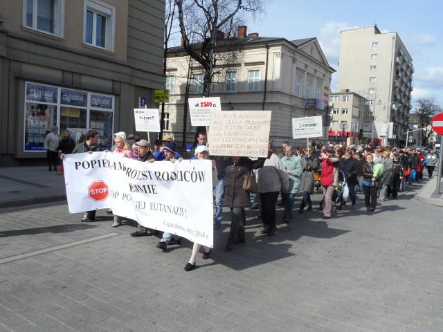 Protest w Częstochowie