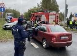 Śmiertelny wypadek w Jaworznie. Na DK79 zderzyły się audi i skoda. Kierowca audi zginął na miejscu
