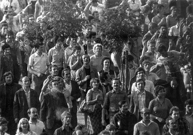 Protesty opozycji antykomunistycznej w dniu 31.08.1982 roku w Krakowie