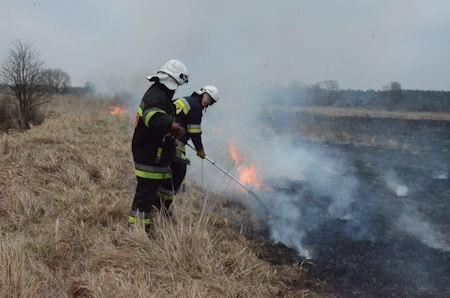 W okolicy Szczawna płonie 30 hektarów nieużytków.
