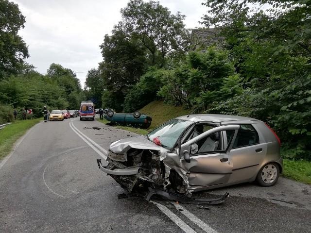 Wypadek w okolicach miejscowości Jelonki