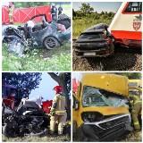 Wypadki drogowe na terenie województwa wielkopolskiego w czerwcu 2021. Zobacz zdjęcia