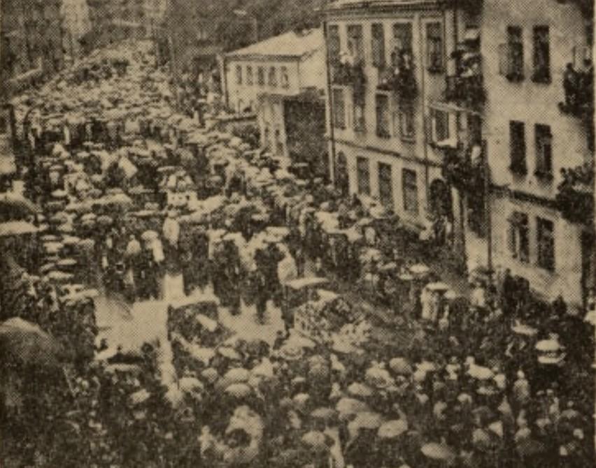 Pogrzeb dzieci, czerwiec, rok 1961, Lublin