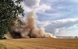 Gmina Stargard. Wielki pożar na polu pod Stargardem, między Żarowem i Smogolicami. Paliło się też na polu pod Dolicami