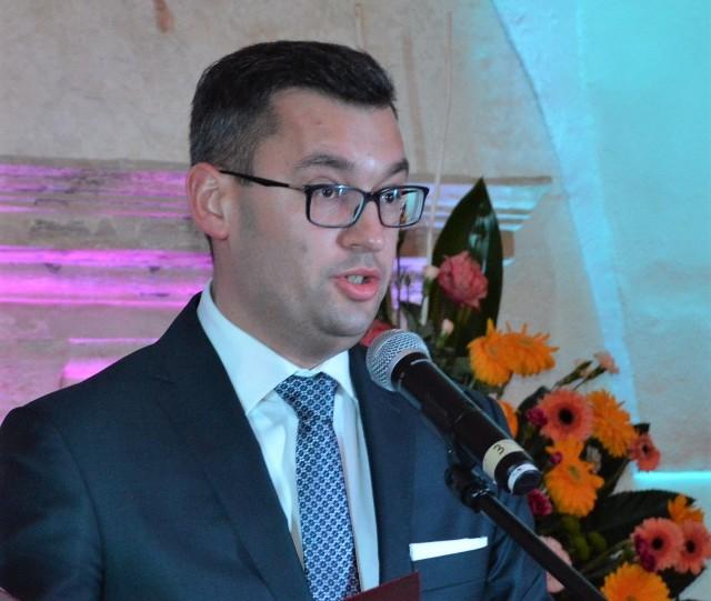Burmistrz Miechowa Dariusz Marczewski