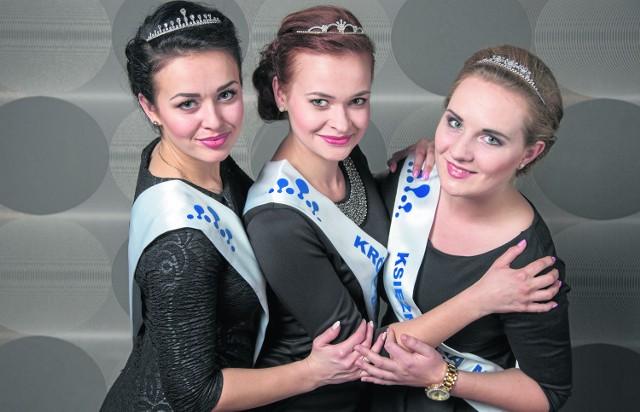 Królowa (w środku) i Księżniczki Mleka. Od lewej stoją Joanna Łuniewska, Justyna Matusiewicz oraz Karolina Bukowska