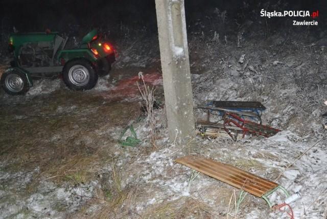 Wypadek podczas kuligu w miejscowości Ryczów-Kolonia. 16-latek przygnieciony przez traktor.Zobacz kolejne zdjęcia. Przesuwaj zdjęcia w prawo - naciśnij strzałkę lub przycisk NASTĘPNE