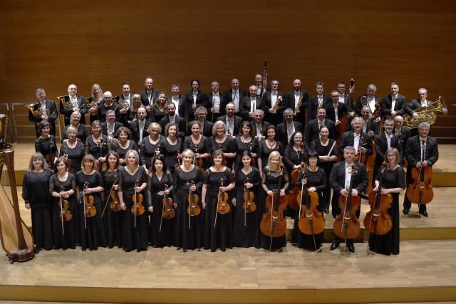 """Koncert online  """"65 lat Orkiestry w Rzeszowie"""" w wykonaniu Orkiestry Symfonicznej Filharmonii Podkarpackiej  pod dyrekcją Łukasza Meygera."""