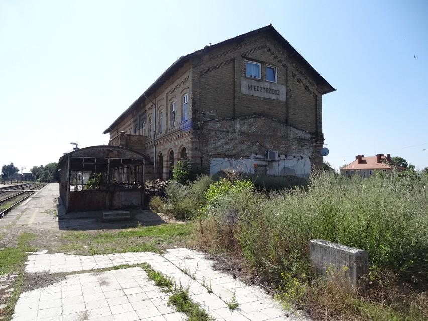 Wjazd na stacje w Międzyrzeczu od strony Gorzowa