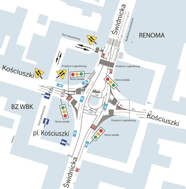 Zmiany komunikacyjne na placu Kościuszki