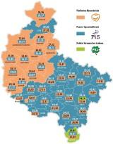 Wybory parlamentarne 2015: Wyborcze granice w regionie znikają? PiS wzięło 19 powiatów