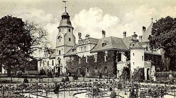 Biolodzy mają przywrócić dawny układ ogrodu. Na zdjęciu przedwojenna pocztówka zamku, wzniesionego w latach 1615-1617.