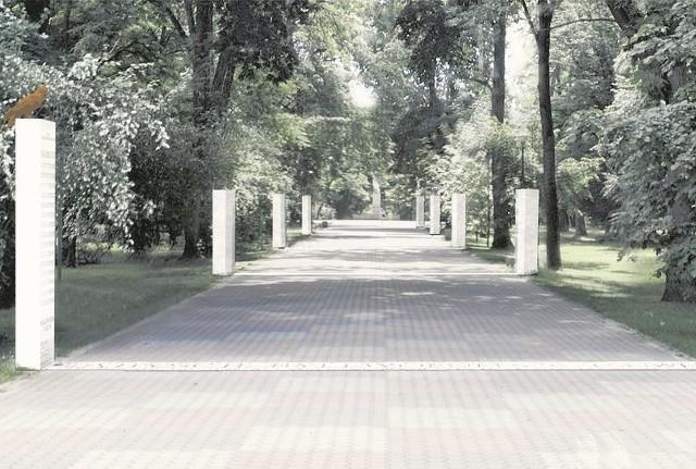 Projekt Alei Niezłomnych przygotował architekt Andrzej Chwalibóg wraz z zespołem. Na każdej kolumnie znajdzie się wizerunek, cytaty i opis wybranej postaci historycznej