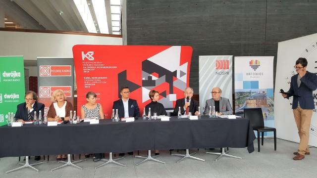 Konferencja prasowa przez 1. Międzynarodowym Konkursem Muzycznym im. Szymanowskiego w Katowicach, 7 września 2018 r.