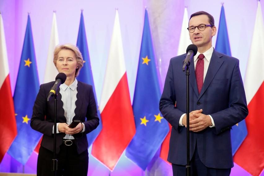 Spotkanie premiera Mateusza Morawieckiego i szefowej Komisji...