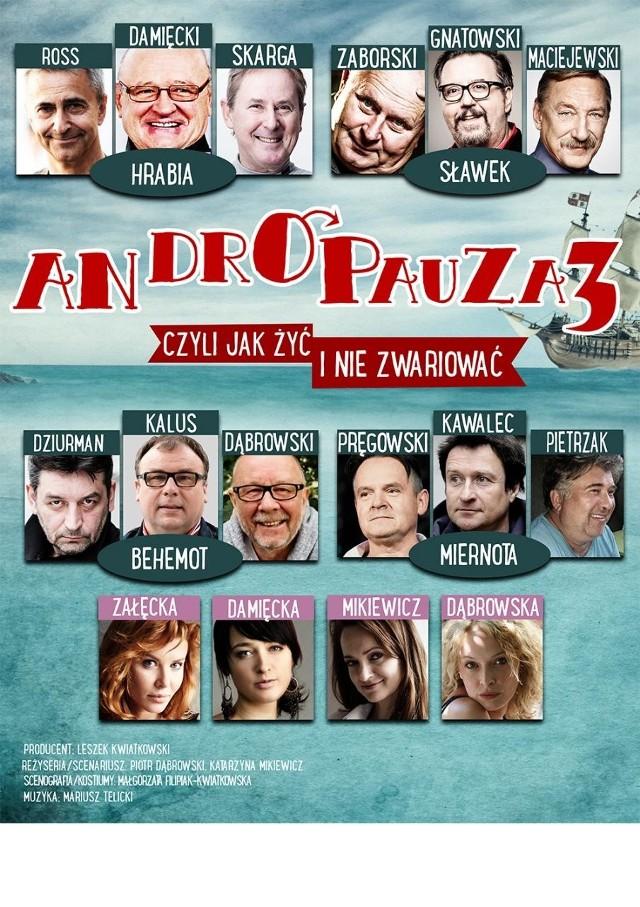 """5 marca (poniedziałek) o godz. 18 w Filharmoni Podkarpackiej odbędzie się spektakl """"ANDROPAUZA 3 - czyli jak życ i nie zwariować"""""""