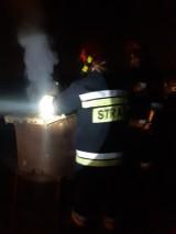 Nocny pożar sadzy w kominie w Mysłowicach. Strażacy działali kilka godzin