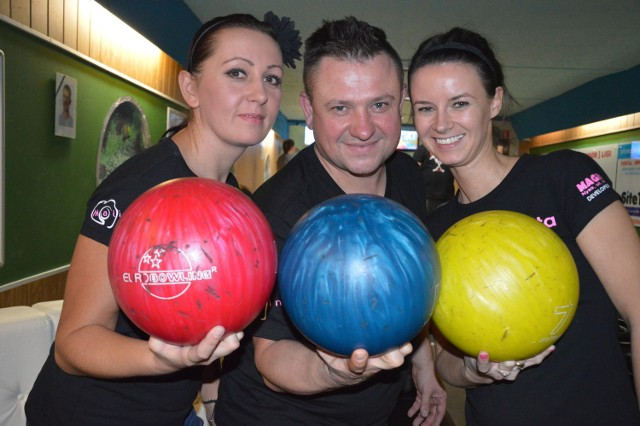 Magdalena Leśnik, Janusz Leśnik i Iwona Kosmal tworzą drużynę Magnolia-Malina.