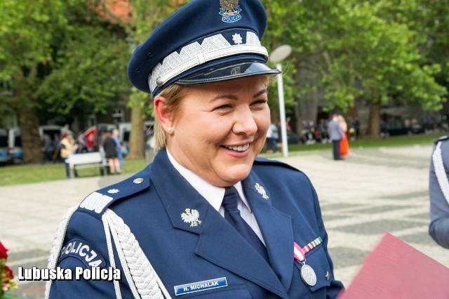 Nadinsp. Helena Michalak służyła w Polskiej Policji 24 lata. Zdjęcia z archiwum Lubuskiej Policji