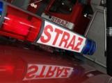 Pożar samochodu w Nowosolnej. Na ratunek ruszyły dwa zastępy strażaków
