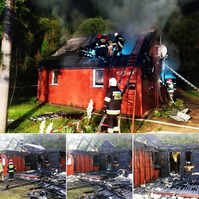 Zdjęcia z pożaru domu w Antoninie jako pierwszy opublikował serwis wysokomazowiecki24.pl.