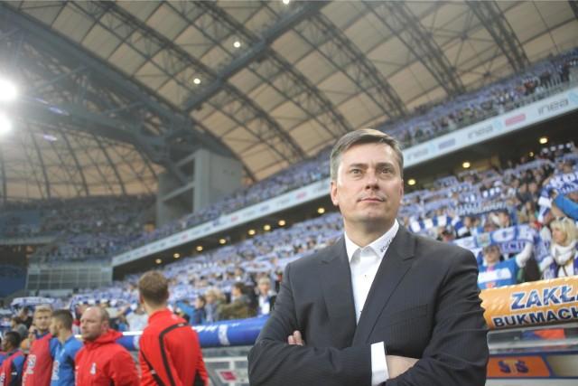 Maciej Skorża prowadził Lecha Poznań od 1 września 2014 roku. Zwolniono go 12 października 2015 roku, kiedy zespół był w lidze na ostatnim miejscu w tabeli. Z Kolejorzem zdobył mistrzostwo Polski.