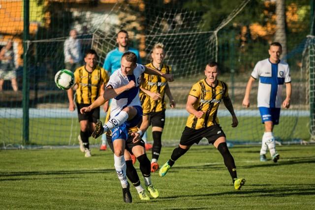 Migawka z ligowego meczu Zawisza - Sparta, który odbył się w sierpniu 2018 roku.