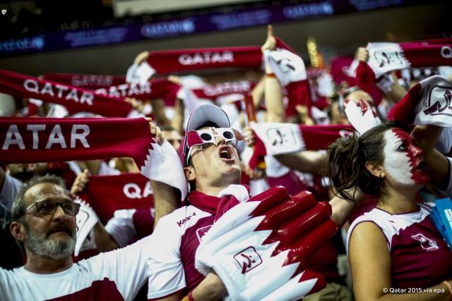Kibice Kataru na trybunach w Dausze to po części Hiszpanie