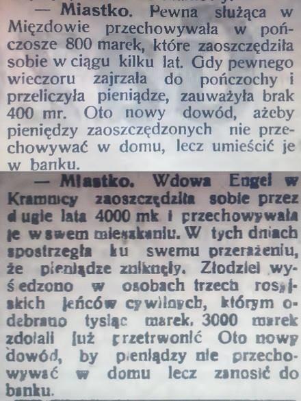 Artykuły z 1913 i 1917 r.