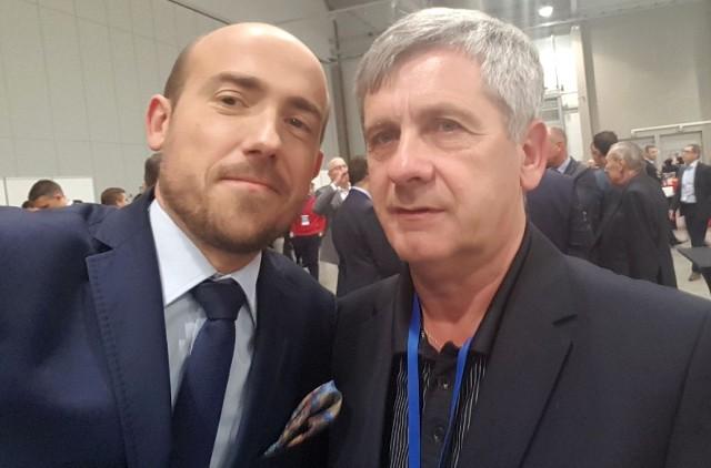 Szef buskich struktur Platformy Obywatelskiej Andrzej Zoch (z prawej) zaprosił na środowe spotkanie w Busku-Zdroju także byłego wiceministra sprawiedliwości, posła Borysa Budkę.