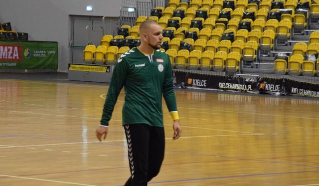 Wojciech Czerwiński na treningu Łomża Vive Kielce.