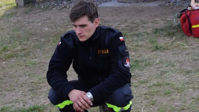 Łukasz Darul z OSP Turek (SMS o treści OSP.84)