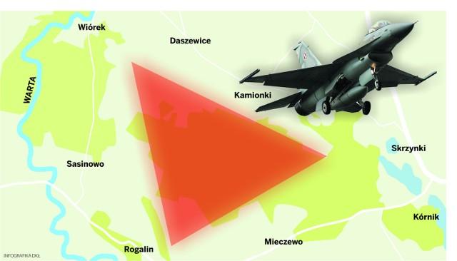 Strefa zrzutu dla F-16 powstanie w gminie Kórnik