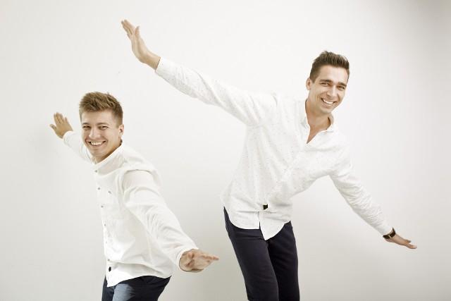 Twórcy wrocławskiego start-up BZB UAS: Jan Byrtek (od lewej)  i Kacper Budnik.