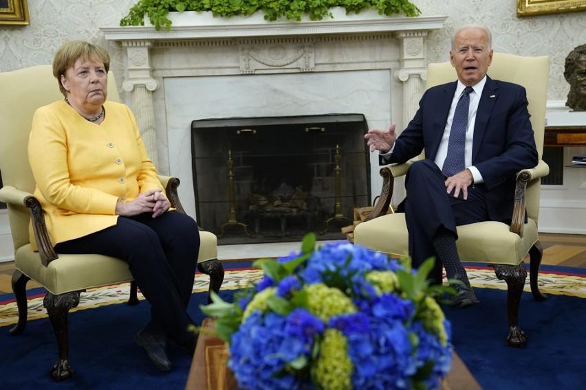 Waszyngton: Spotkanie Joe Bidena z Angelą Merkel. USA i Niemcy zjednoczone przeciwko agresji Rosji