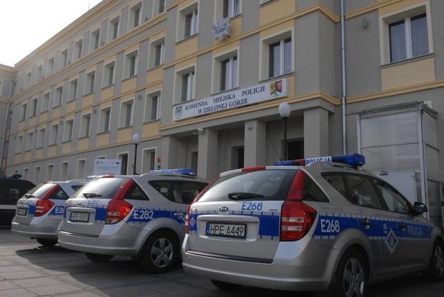 Komenda miejskiej policji w Zielonej Górze przy ul. Partyzantów