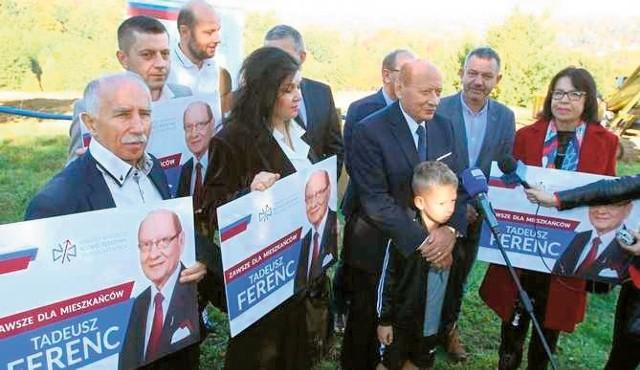 Oprócz prezydenta Tadeusza Ferenca w spotkaniu w Matysówce wzięli udział kandydaci na radnych w nadchodzących wyborach.