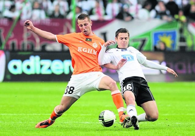 Kamil Wilczek (z lewej, z prawej Ariel Borysiuk) do Zagłębia przyszedł z Piasta jako perspektywiczny piłkarz. Przed tym sezonem wrócił jednak na Górny Śląsk, bo w Lubinie nie mógł liczyć na wiele minut