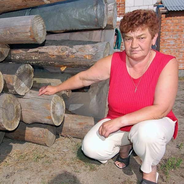 Stanisława Walska: - To kupione w tartaku drewno zostało potraktowane jako dowód rzeczowy. I nie wolno go użyć na budowę garażu.