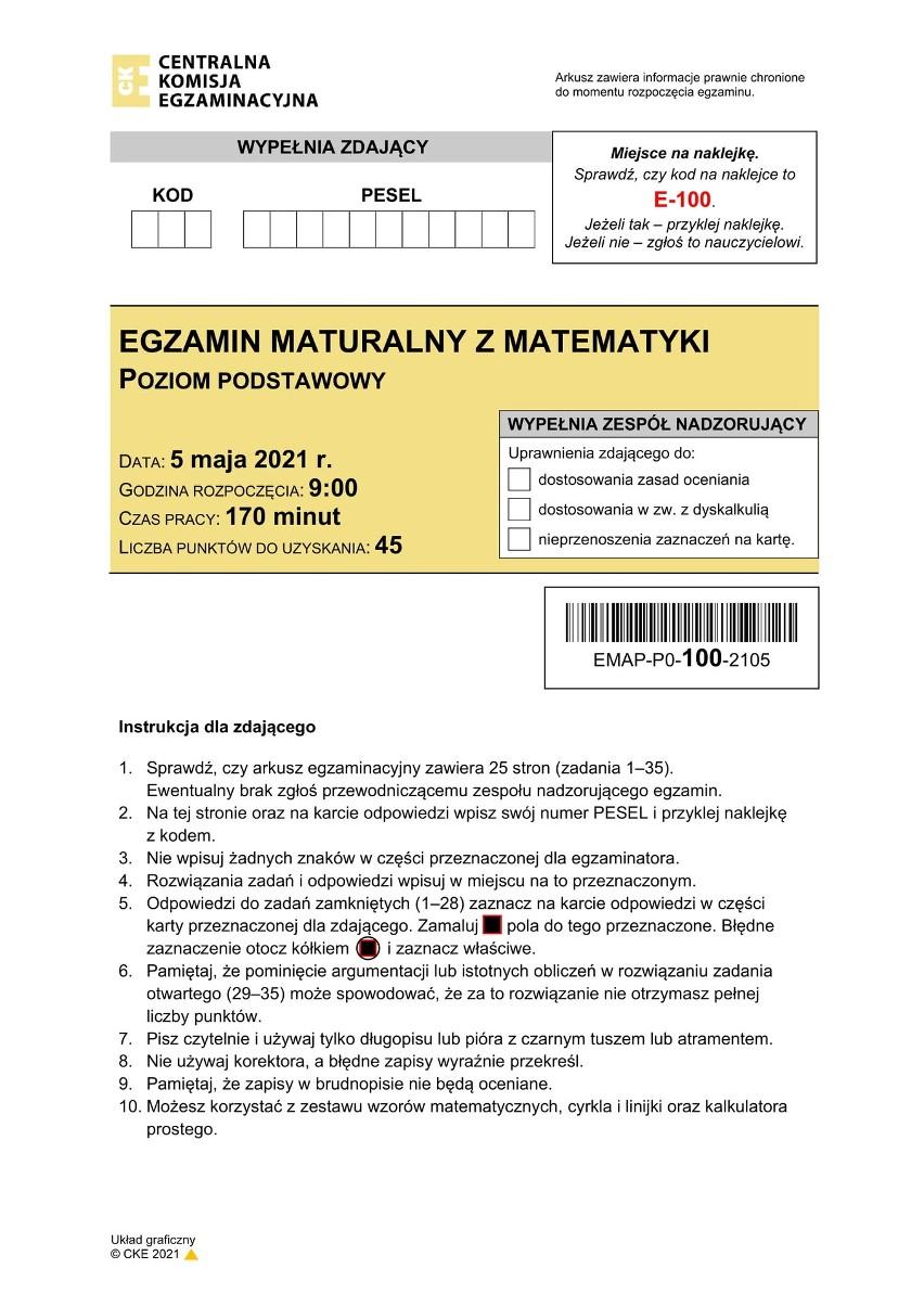 STRONA TYTUŁOWA ARKUSZA - PIERWSZE ODPOWIEDZI  NA NASTĘPNEJ...