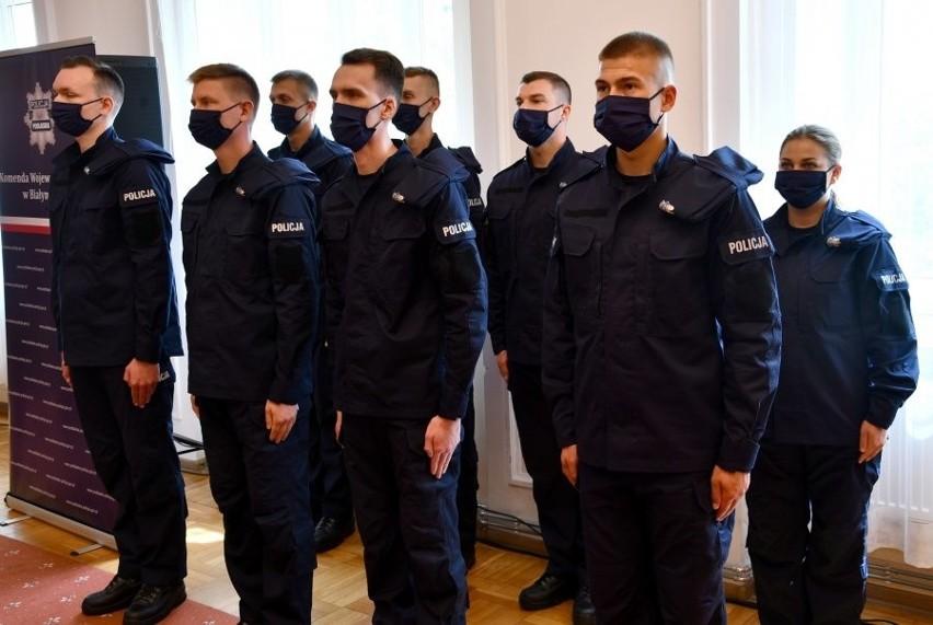 Komenda Wojewódzka Policji w Białymstoku. Ślubowanie...