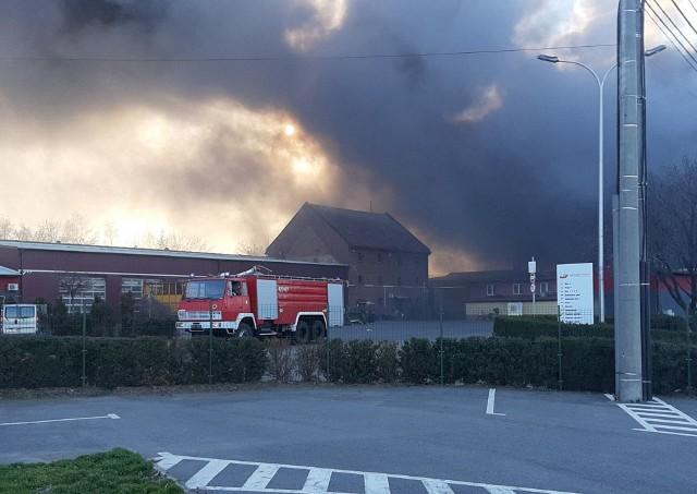 Pożar hali Pawłowiczki.